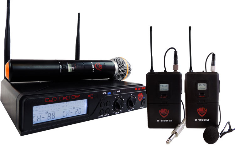 Nady U-2100 Dual 100-Channel UHF Wireless System